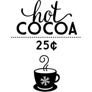 Silhouette Design Store View Design 110200 hot cocoa