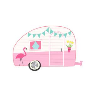 Silhouette Design Store - View Design #205700: pink retro ...