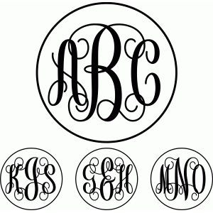 free circle monogram font download for silhouette