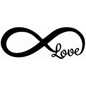 Silhouette Design Store - View Design #50510: infinity love