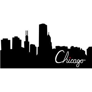 Silhouette Design Store View Design 10920 Chicago Skyline