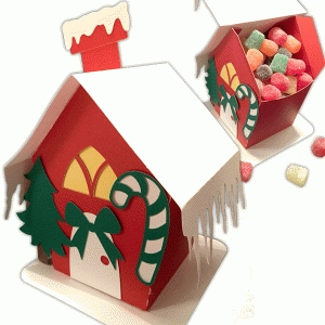 silhouette design store view design 68720 christmas candy box house - Christmas Candy Boxes