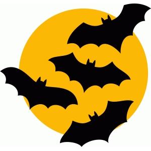 Silhouette Design Store View Design 93220 Bats Moon