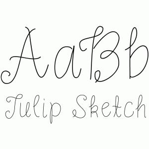 Silhouette Design Store - View Design #100530 Tulip Sketch Font