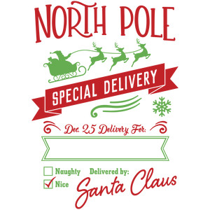 Obsessed image regarding free printable north pole special delivery printable