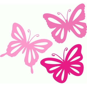 Silhouette Design Store View Design 84630 Butterfly Set