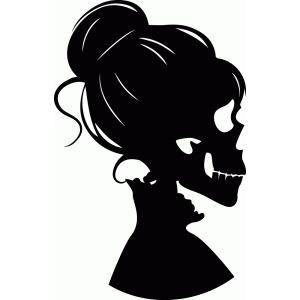 Silhouette Design Store - View Design #99130: skeleton girl