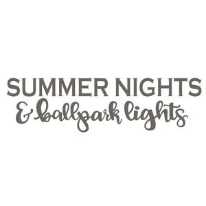 0ac95a37d5cd Silhouette Design Store - View Design  256240  summer nights and ballpark  lights baseball phrase
