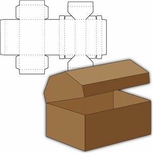 photo relating to Treasure Chest Template Printable titled Silhouette Structure Shop - Feeling Style and design #4940: treasure upper body box