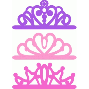 Silhouette Design Store View Design 82740 princess crown set