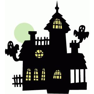 silhouette design store view design 69050 haunted house. Black Bedroom Furniture Sets. Home Design Ideas