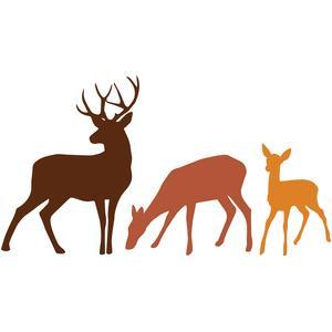 Silhouette Design Store - View Design #103360: deer family