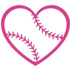 Silhouette Design Store View Design 131060 Baseball Heart