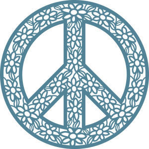 silhouette design store view design 273260 peace sign with flowers