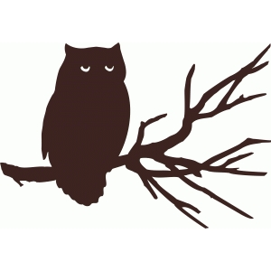 Silhouette Design Store View Design 49960 Owl On Branch