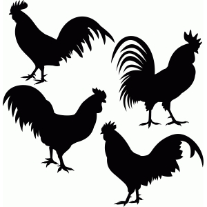 Silhouette Design Store View Design 79660 Rooster Set