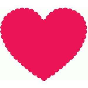 Silhouette Design Store View Design 74670 Scallop Heart