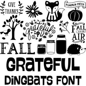 Silhouette Design Store - View Design #229180: grateful dingbats font