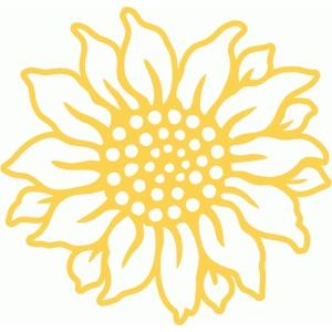 Silhouette Design Store - View Design #85690: sunflower ...