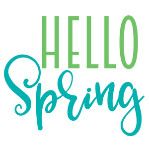 45+ Hello Spring Svg PNG