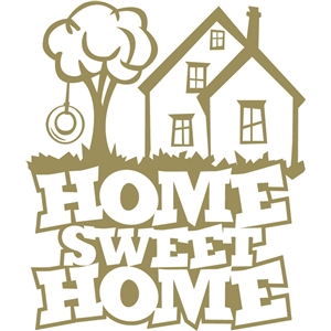 Silhouette Design Store View Design 31221 Home Sweet Home