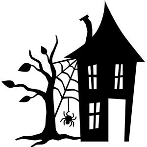 silhouette design store view design 32521 haunted house. Black Bedroom Furniture Sets. Home Design Ideas