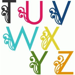 Silhouette Design Store - View Design #55921: swirly ...