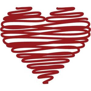 Silhouette Design Store View Design 3841 Heart Scribble