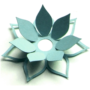Silhouette Design Store - View Design #18061: 3d cutout flower