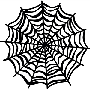 Silhouette Design Store View Design 4461 Creepy Spider Web