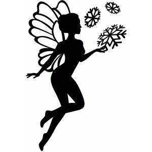 Silhouette Design Store - View Design #68561: snow fairy