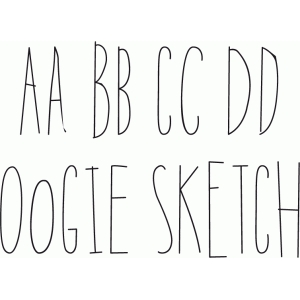 Silhouette Design Store - View Design #51271 Oogie Sketch Font