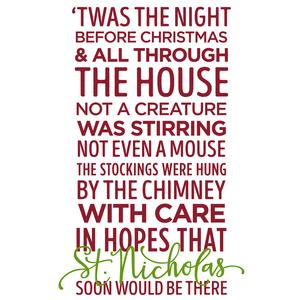silhouette design store view design 111181 twas the night before christmas phrase