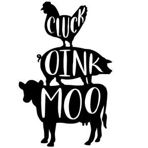 Get Cluck Oink Moo Farmhouse Svg Cut File Ò Cricut Ò Silhouette PNG