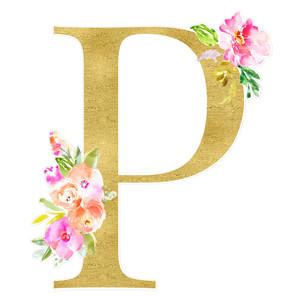 Silhouette Design Store View Design 277281 Letter P Monogram