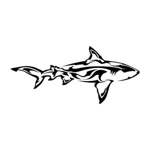 Silhouette Design Store View Design 3681 Tribal Shark