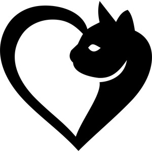 Silhouette Design Store - View Design #169702: cat heart