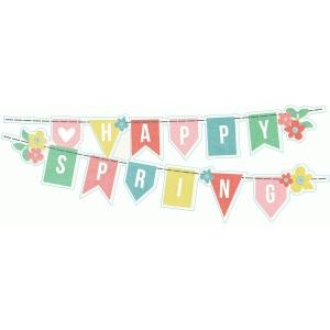 Silhouette Design Store - View Design #76402: happy spring ...