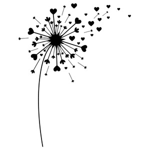 silhouette design store view design 201512 heart dandelion