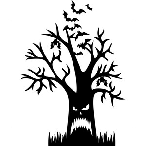 silhouette design store view design 216312 scary halloween tree