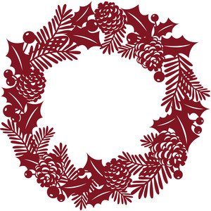 Christmas Wreath Silhouette.Silhouette Design Store View Design 238012 Holly And