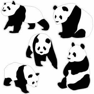 Silhouette Design Store - View Design #77112: panda bear set