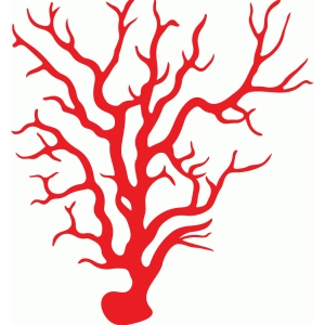 Silhouette Design Store - View Design #85412: red coral
