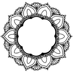 Silhouette Design Store View Design 277122 Mandala Frame