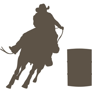 Silhouette Design Store View Design 12042 Rodeo Barrel