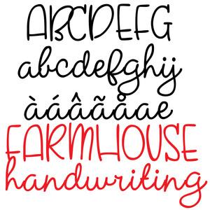 Silhouette Design Store - View Design #272542: pn farmhouse handwriting