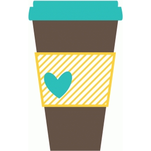 Silhouette Design Store - View Design #37942: coffee cup to go