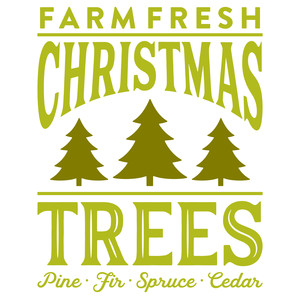 Fresh Christmas Trees Svg.Silhouette Design Store View Design 227462 Farm Fresh