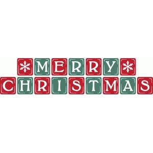 merry christmas blocks