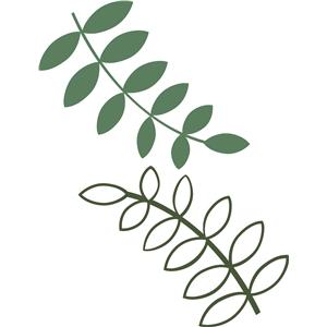 Silhouette Design Store View Design 16972 leafy branches